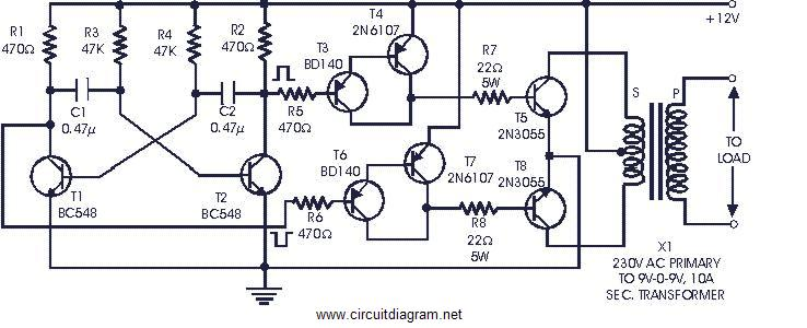 siwire  2000w 12v simple inverter circuit diagram