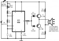 Simple One Transistor Microphone moreover 5 further Design Your Circuit Part Viii Cd 4033 Counter additionally Heat Sensor furthermore Fm Radio Jammer Circuit. on fm transmitter circuit project