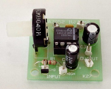 1W Audio Amplifier with TDA7052