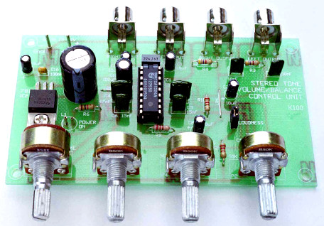 Pre-Amp + Tone Control with TDA1524A