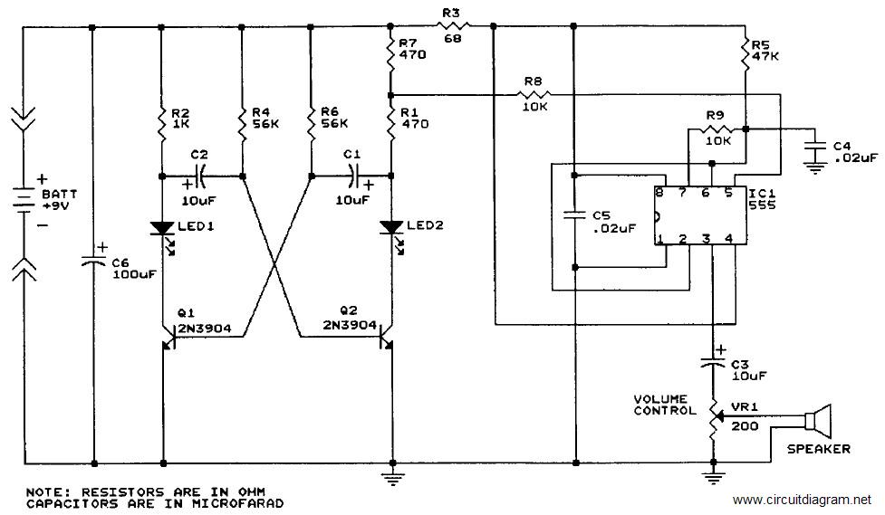 Sound Generator with IC 555