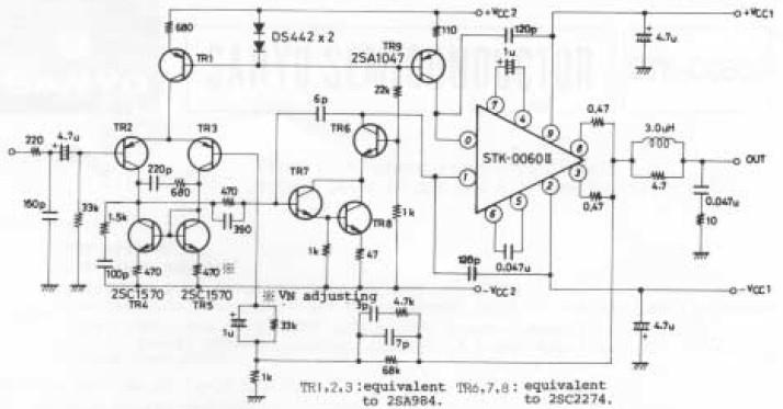 60W AF Amplifier With STK-0060II