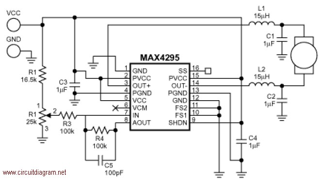Motor Speed Control with MAX4295