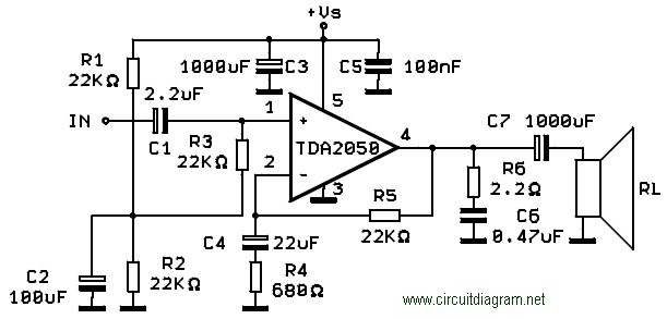 50w power amplifier with ic tda7294