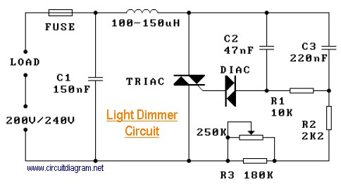 220V Light Dimmer Schematic Design