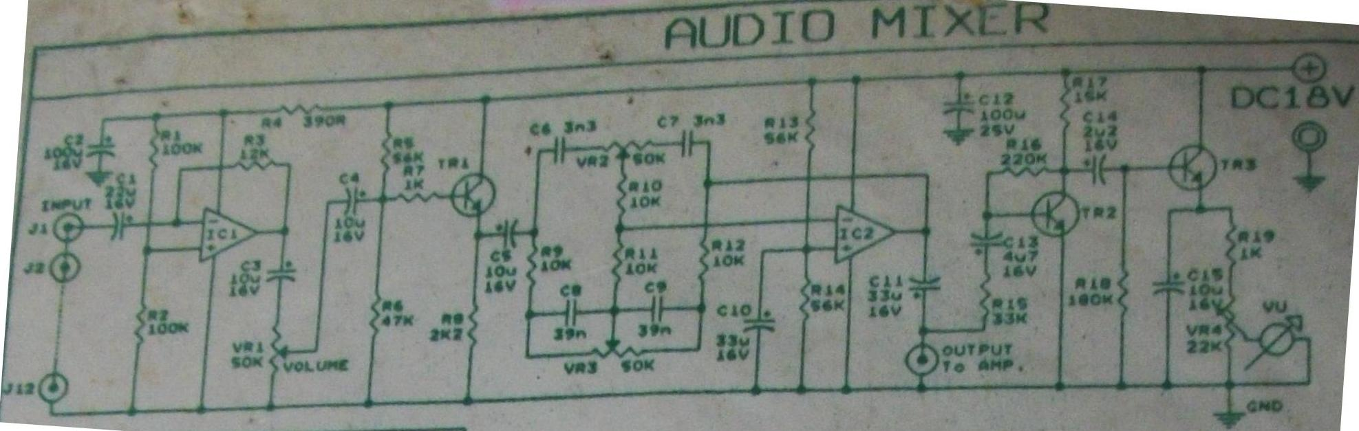 Audio Mixer + VU Meter