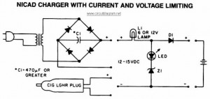 NiCAD Battery Charger with Current and Voltage Limiting circuit