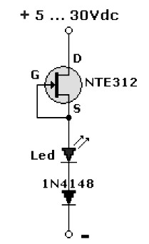 LED Pilot Light using FET