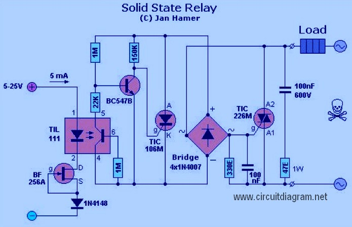 Solid State Relay on tube audio mixer