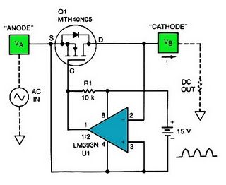 Low Forward-Drop Rectifier
