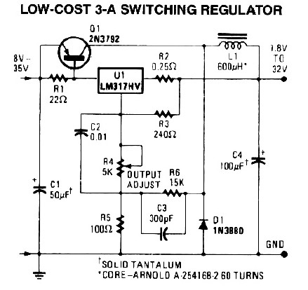 3A Switching Power Supply Regulator