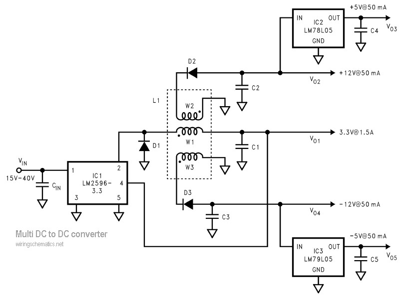 lm2596 circuit diagram