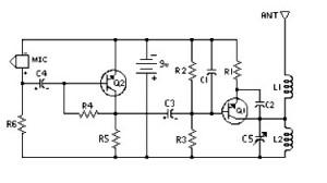 fm transmitter 300 feet circuit diagram