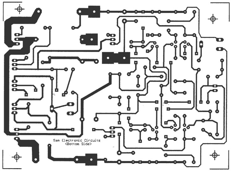 65w power amplifier bottom pcb design layout
