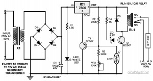 Automatic Light Controller circuit