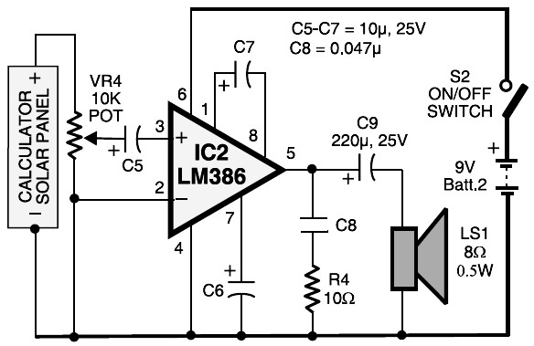 laser communication - receiver circuit