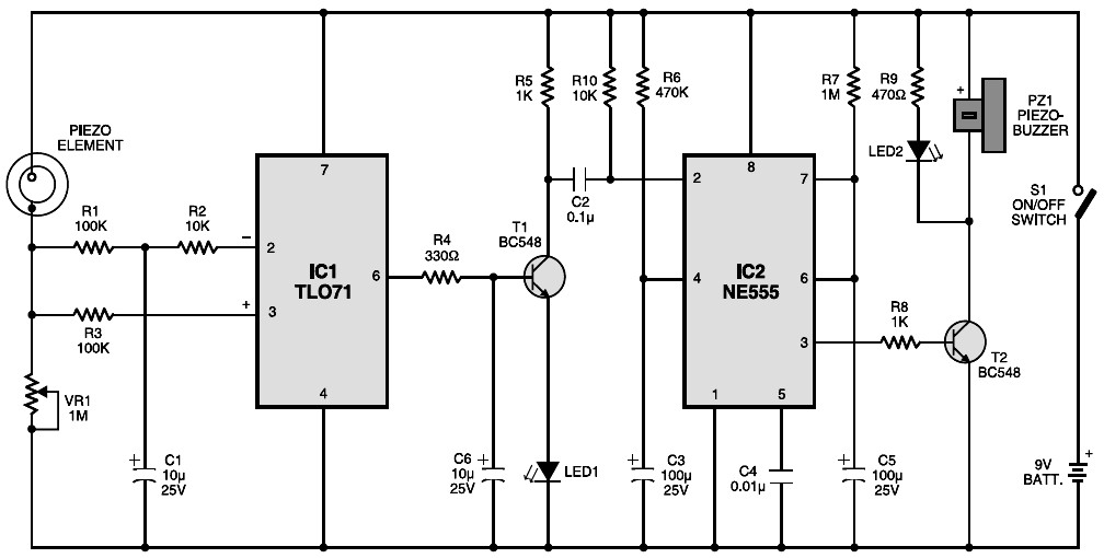 simple alarm circuit diagram  simple  free engine image