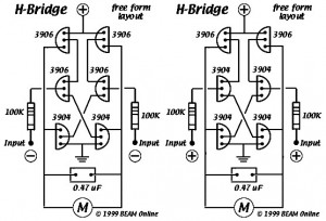 6 transistor tilden 39 s h bridge electronic circuit. Black Bedroom Furniture Sets. Home Design Ideas