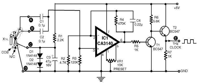 1Hz Clock Generator with Chip On Board (COB)