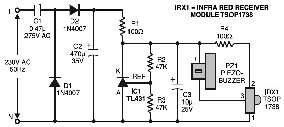 Simple On Off Remote Control Circuit Diagram Hindi