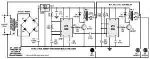 Simple Traffic Light Controller circuit