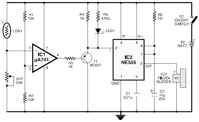 light fence circuit diagram
