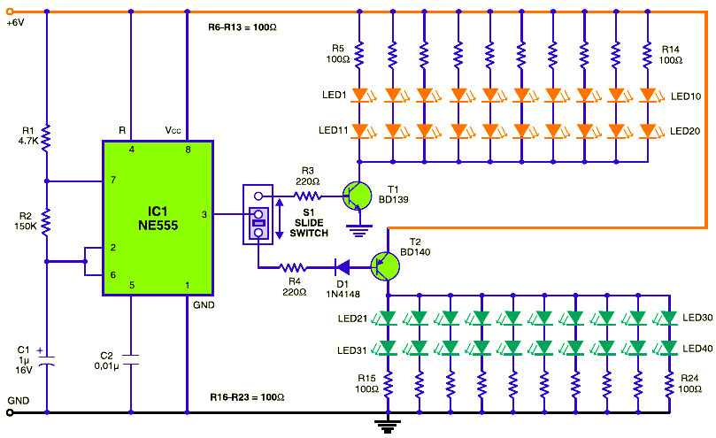 simple traffic light controller schematic design courtesy light · traffic baton bulb or led flasher