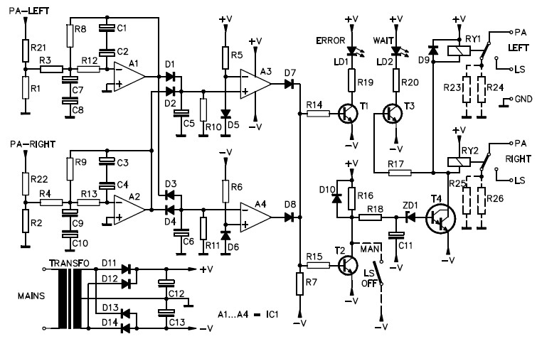 Speaker Protection Circuit (Stereo)