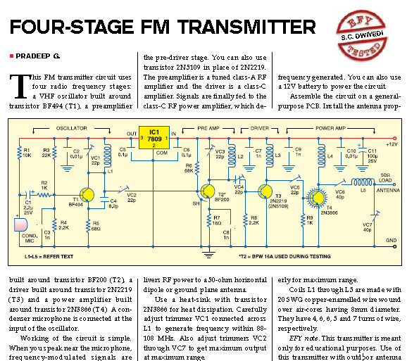 800watts  lifier Circuit Diagram further 5arrxtnrnt8 likewise Metal Detector Circuits together with Miniature Fm Transmitter Electronic Circuits And Diagram besides Lm386 Audio  lifier Circuit. on transistor mini fm transmitter schematic design
